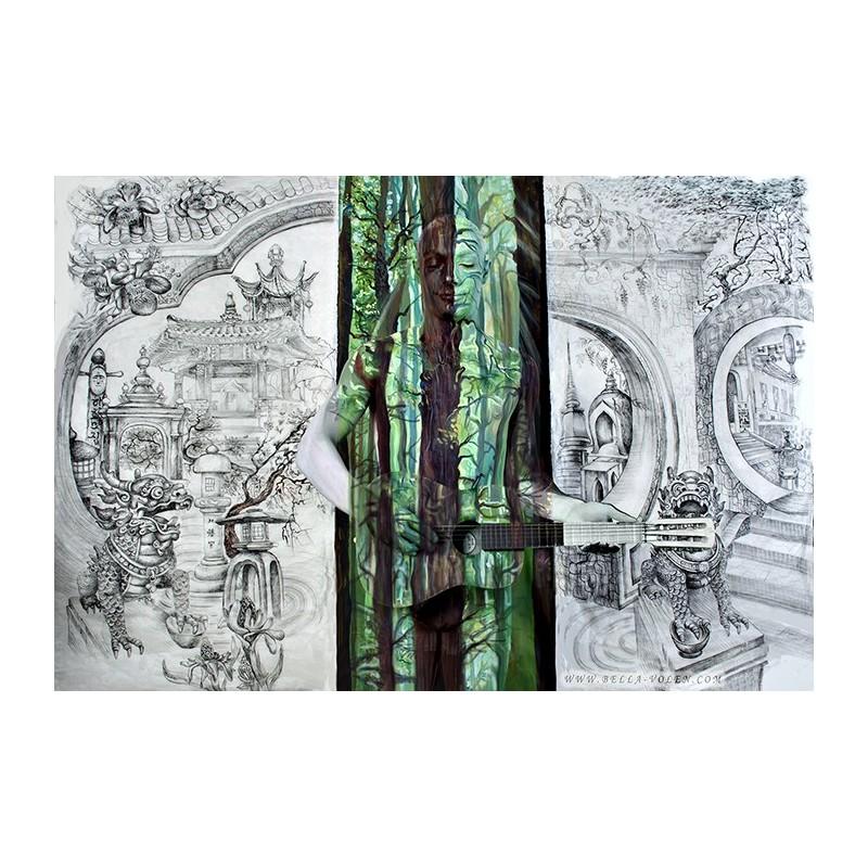 Fine Art Bodypainting Print On Canvas