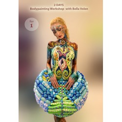 Bodypainting workshop, 2 days art class for 1 person