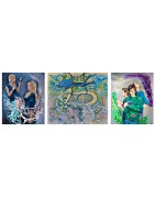 Original contemporary canvas paintings, silkscreen, drawings by Bella Volen